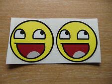 Awesome Viso-COPPIA di adesivi 50mm-Internet Meme Decalcomanie