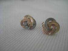 9ct 3 colore oro 3 cerchio ad incastro orecchini a perno