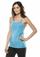 Women's Oakley Saucy Tank Top Sleeveless Shirt Bright Aqua Blue Size Large L