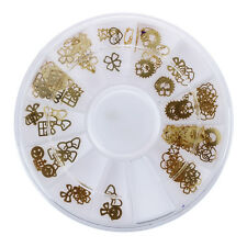 US New Nail Art Gold Metal Slice Stickers Design Decoration Wheel for Nail Art