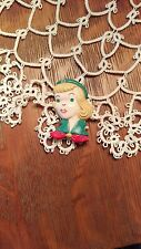 Vintage 1950's Girl Scout Figural Plastic Pin