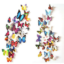 3D 24PCS Butterfly Art Decal Wall Stickers/Magnetic Home Decor Room Decorations