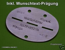 Mit Ihrer Wunschprägung : WH WK2 Aluminium Erkennungsmarke (Repro) DogTag WWII