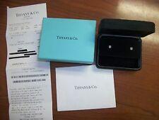 Tiffany & Company .57 ct Platinum Diamond Stud Earrings $4,880+tax w/ receipt