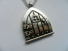 Unusual Silver Fairy Wish // Hobbit  Door Chain Necklace