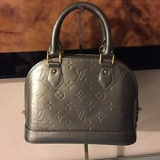 Authenitc New Louis Vuitton Givre Monogram Vernis Alma BB Bag