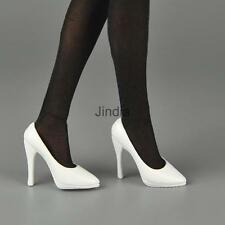 "White 1/6 Female High Heel Pumps Shoes For Phicen Kumik Hot Toys 12"" Figures"