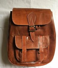 Sac a Dos 100% Cuir Vintage couleur marron whisky