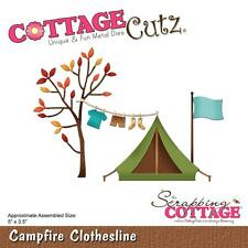 Campfire Clothesline Die Steel Craft Die Cutting Dies COTTAGE CUTZ CC251 New