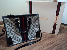 Gucci Medium Boston Bag, Classic Guccissimia  W/Shoulder Strap +EXTRAS, VINTAGE