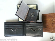 NWT ROLFS men wallet premium leather bi-fold black removable PHOTO ID  NEW