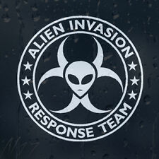 Alien Invasion Response Zombie Team Car Graphic Decal Vinyl Sticker