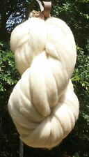 1 lb POUND White Wool Top Roving Fiber Spin, Felt Crafts LUXURIOUS HIGH QUALITY