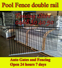Aluminium Double rail Flat Top Pool Fence /Fencing 2400mm x 1200mm -  $80 panel