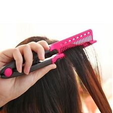 V Comb Folding Styling Hair Straightener Hairdressing Salon Straightening Brush