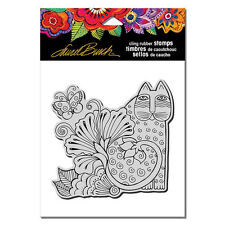 LAUREL BURCH RUBBER STAMPS CLING BLOSSOMING FELINE NEW cling STAMP