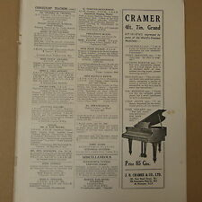 vintage advertise CRAMER Grand Piano, 1936