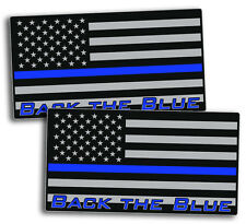 Back The Blue Police Sticker Decal USA Flag Line 2nd Amendment Lives Matter ALL