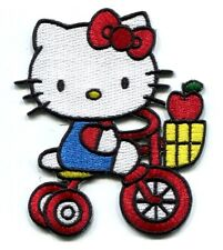 HELLO KITTY riding tricycle EMBROIDERED PATCH **FREE SHIPPING** -d 58016