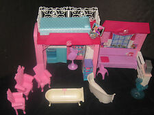 Barbie Dollhouse With Furniture Accessories Huge Toy Lot