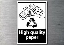 Recycling High quality paper sticker 7yr vinyl commercial office industrial