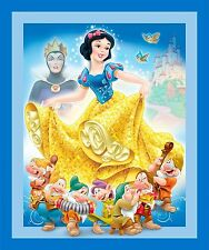 "1 Disney ""Snow White"" Wallhanging/Lap Quilt Panel Fabric"