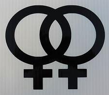 Gay Pride Lesbienne signe pour les voitures fun stickers Van Pare-chocs Ordinateur Portable Decal 5402 Noir