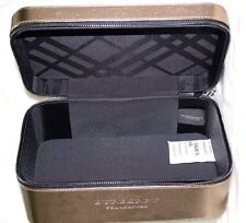 BURBERRY BODY TENDER COSMETIC HAND BAG CASE VANITY BOX FAUX LEATHER DARK GOLD