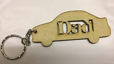 Dad Car Key Ring Ideal Present 3mm Mdf
