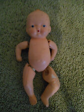 """VTG Bisque or Composition Jointed Baby Doll Marked Made in Japan 5"""""""