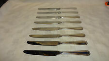Vintage Viners Bead Edge Pattern - Silver Plated Dessert Knives x 8