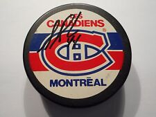 STEPHANE RICHER AUTOGRAPHED OFFICIAL GAME PUCK ZIEGLER REVERSE W/COA