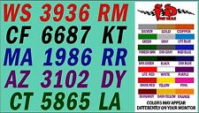 ITALIC BOAT REGISTRATION NUMBER DECALS - FREE SHIPPING - Fast Service