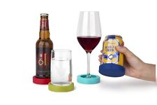 Umbra GRAB AND GO set of 4 different color portable drink coasters 480556-022