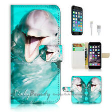 iPhone 7 (4.7') Flip Wallet Case Cover P1226 Dolphin