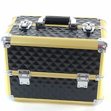 Beauty Case Make Up BS36 XXL Nero Oro Gold Valigia Cofanetto Porta Gioie Smalti