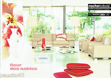 PUBLICITE ADVERTISING 056  2003  Roche Bobois  canapé  Galaxie (2p)