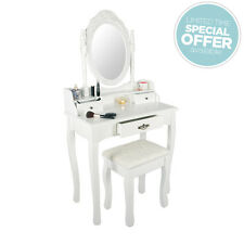White Chic Dressing Table with free stool - Dresser Set - Vanity Makeup Table