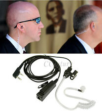 FBI Surveillance Earpiece Headset 2 Pin for Wouxun KG-UVD1P KG-UV6D KG-UV8D