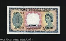 MALAYA & BRITISH BORNEO MALAYSIA $1 P1 1953 QUEEN UNC FIRST CURRENCY MONEY NOTE