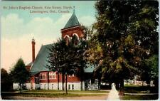 LEAMINGTON, Ontario  Canada   ST. JOHN'S EPISCOPAL CHURCH  c1910s   Postcard