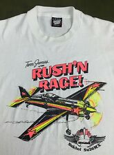 True Vintage 80s 90s Tom Jones Rush'N Rage Airplane Sukhoi Su26MX T-Shirt XL