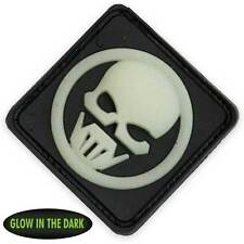 NEW 3D PVC Ghost Recon Military Tactical Airsoft Morale Patch Front Glow / Black