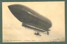 AVIAZIONE. Il dirigibile Malecot. Cartolina d'epoca non viaggiata, circa 1915.