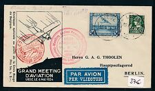 79997) Belgien SF Liege - Brüssel 6.5.34, sp cover... Air mail to Berlin