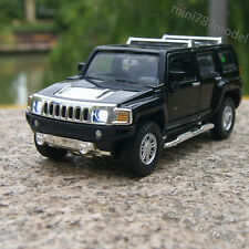 1:32 Hummer H3 Alloy Diecast Car Model Off-road Vehicles Black Sound&Light Gifts