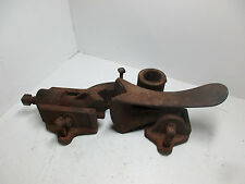 Well Pump Pipe Puller Vice Windmill CAST IRON JACK TOOL Dubuque IA Antique