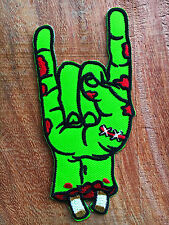 ZOMBIE Walking Dead SALUTE DEVIL Comic Iron on SEW Cloth Woven Patch Badge Pin