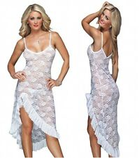 Femme sexy/sissy babydoll lingerie nightwear sous-vêtements + g string taille 18