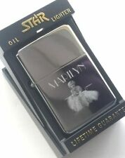 Personalised Marilyn Monroe Star Silver Petrol Lighter (T48)